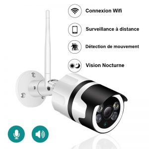 Caméra de surveillance extérieur 1080 P Wifi et vision nocturne
