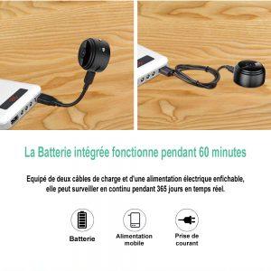 Mini caméra espion Wifi full HD 1080P